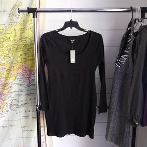 Black long sleeve NWT scoop neck mini dress